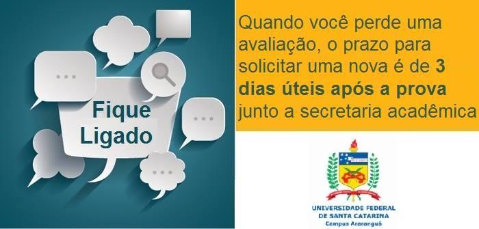 Nova avaliação UFSC Araranguá